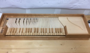 Clavichord - keys finished