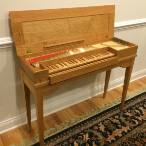 Clavichord with stand